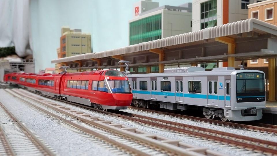 小田急70000系GSEと3000系