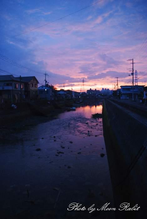 夕暮れ 愛媛県西条市北浜南