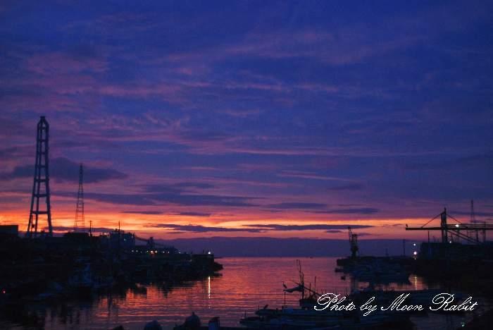 西条漁港の夕景 愛媛県西条市北浜北