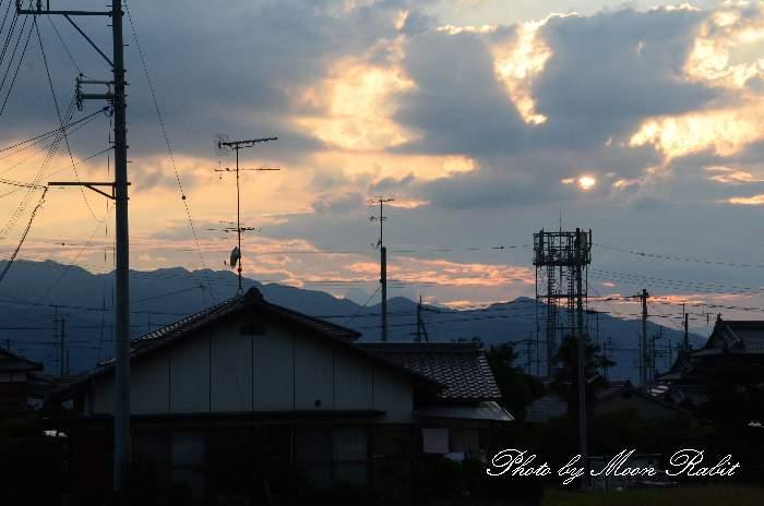 日暮れ 愛媛県西条市橘