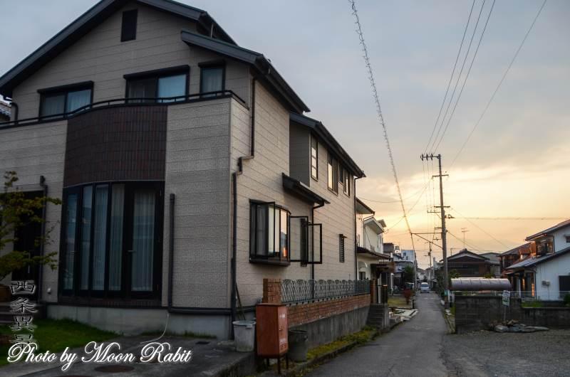 日暮れ 愛媛県西条市小松町新屋敷