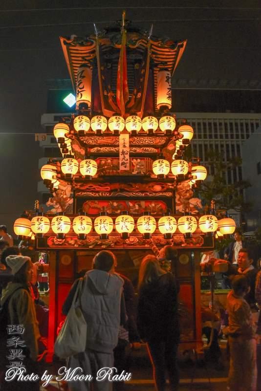 船元町だんじり(屋台) 下前後夜祭 御殿前 西条祭り2018 愛媛県西条市