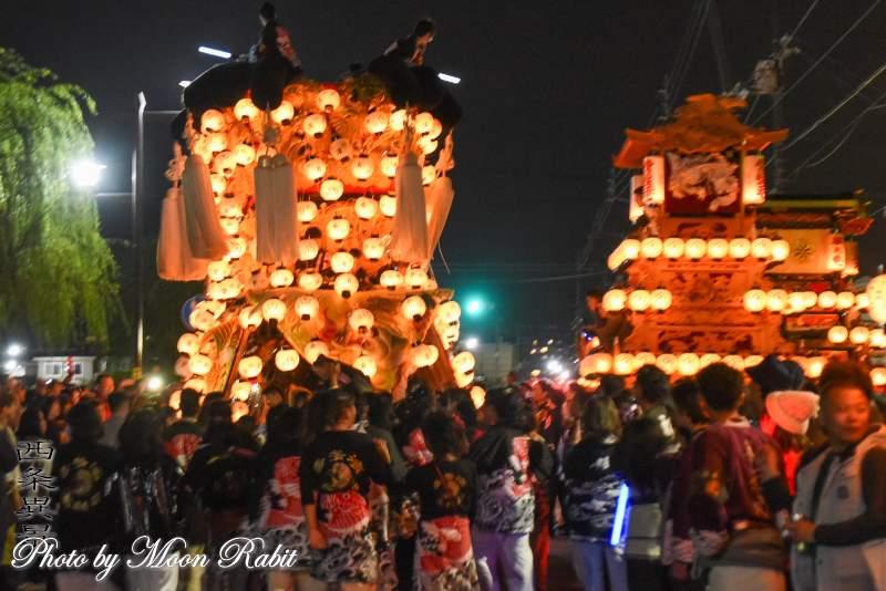 喜多濱みこし 下前後夜祭 御殿前 西条祭り2018 愛媛県西条市
