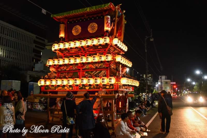 新地だんじり(屋台) 下前後夜祭 御殿前 西条祭り2018 愛媛県西条市