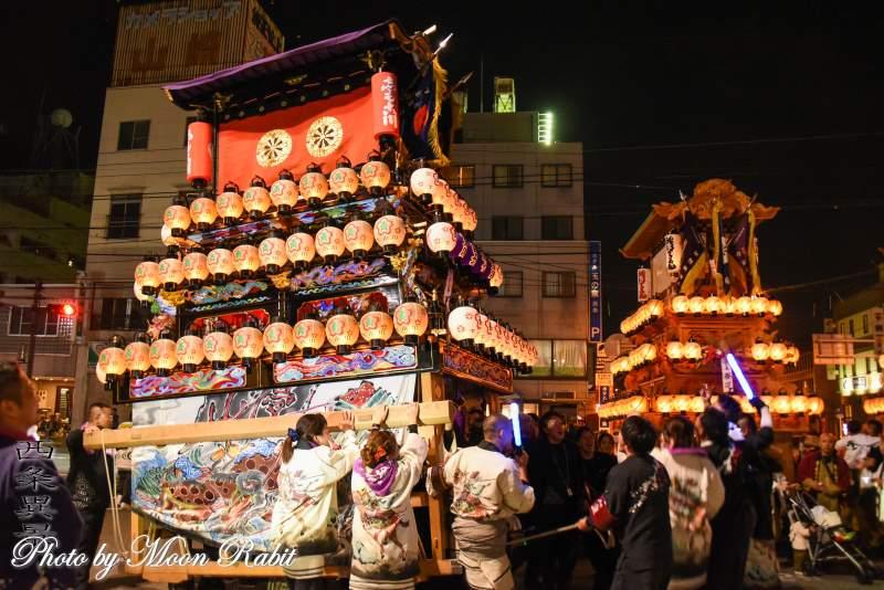 下小川だんじり(屋台) 後夜祭 西条駅前