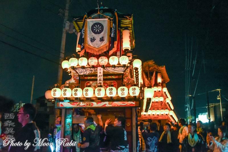 砂盛町だんじり(屋台) 神拝後夜祭
