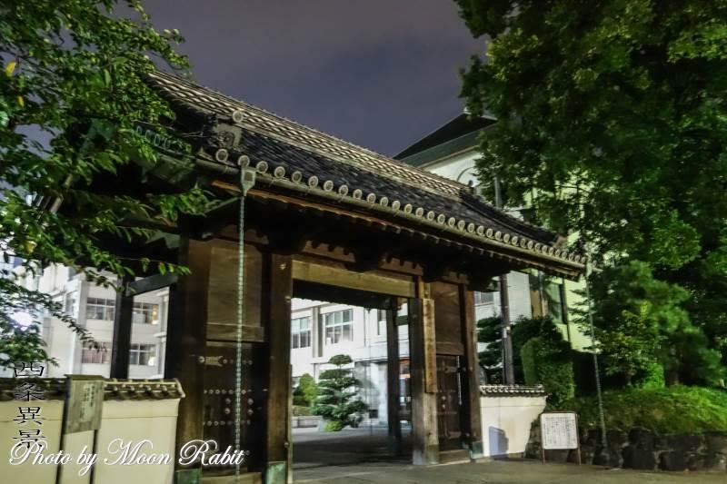 西条高等学校大手門の夜景 愛媛県西条市明屋敷