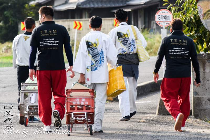 西之原屋台(だんじり) 祭り装束