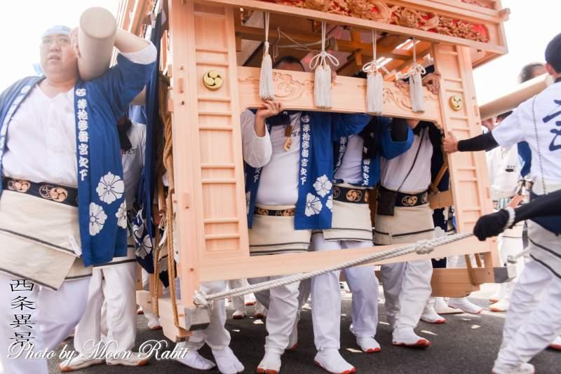 宮の下屋台(だんじり) 祭り装束
