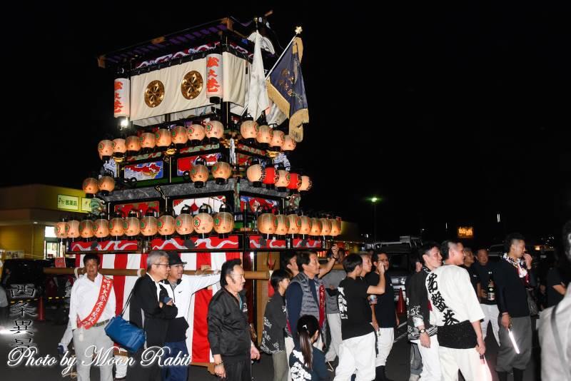 松之巷だんじり(屋台) 前夜祭