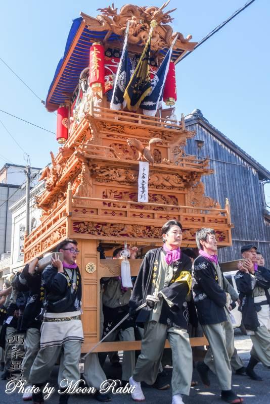 上喜多川だんじり(屋台) 統一運行