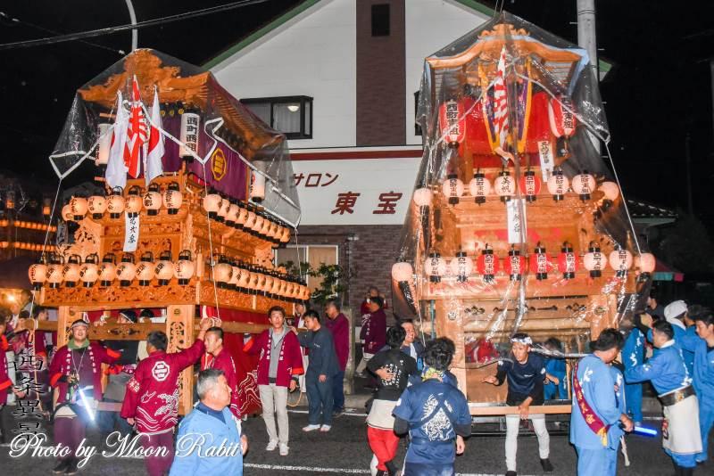 西町東組だんじり(屋台) 三嶋神社祭礼宮入り