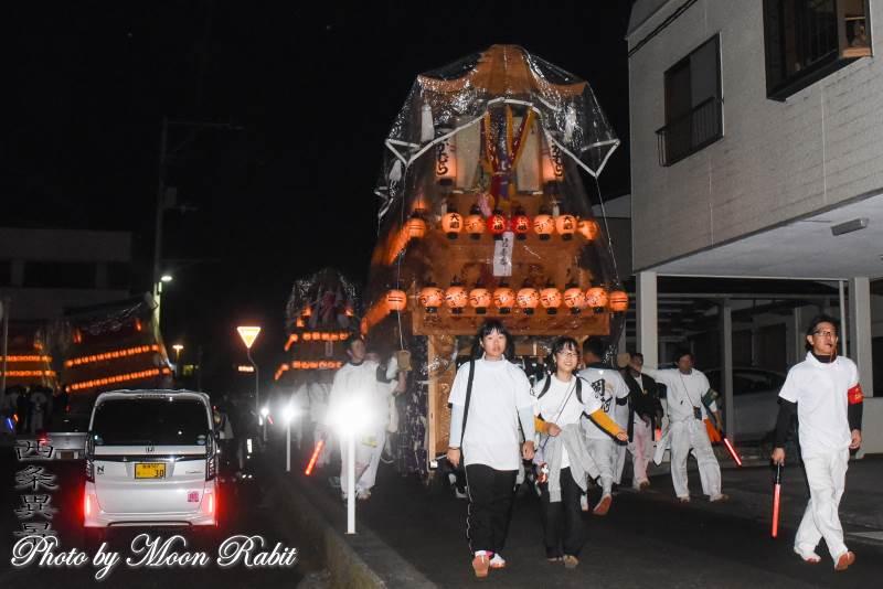 岡村だんじり(屋台) 三嶋神社祭礼宮入り
