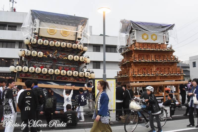 新屋敷だんじり(屋台) 三嶋神社祭礼宮入り