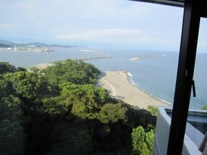 桂浜荘の部屋からの眺め